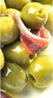 Green stuffed olives with anchovy