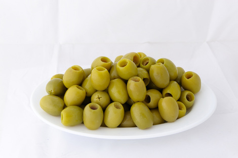 Green Halkidikis pitted olives