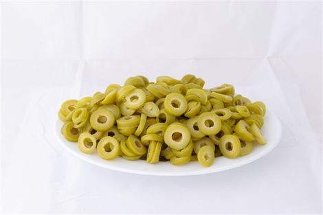 Green Halkidikis sliced olives