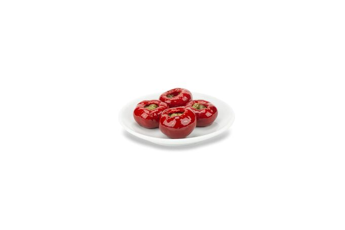 Sweet cherry peppers stuffed with capers